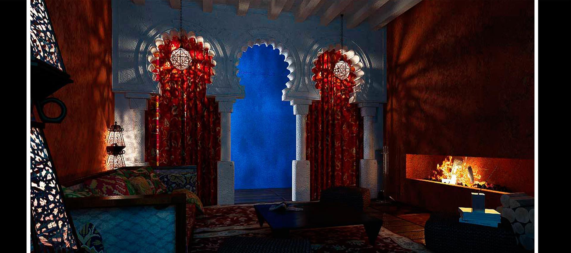 Интерьер дома... с Марокко началось